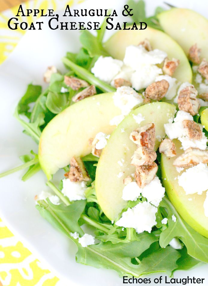 Apple, Arugula & Goat Cheese Salad