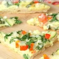 Veggie & Cheese Flatbread Wedges