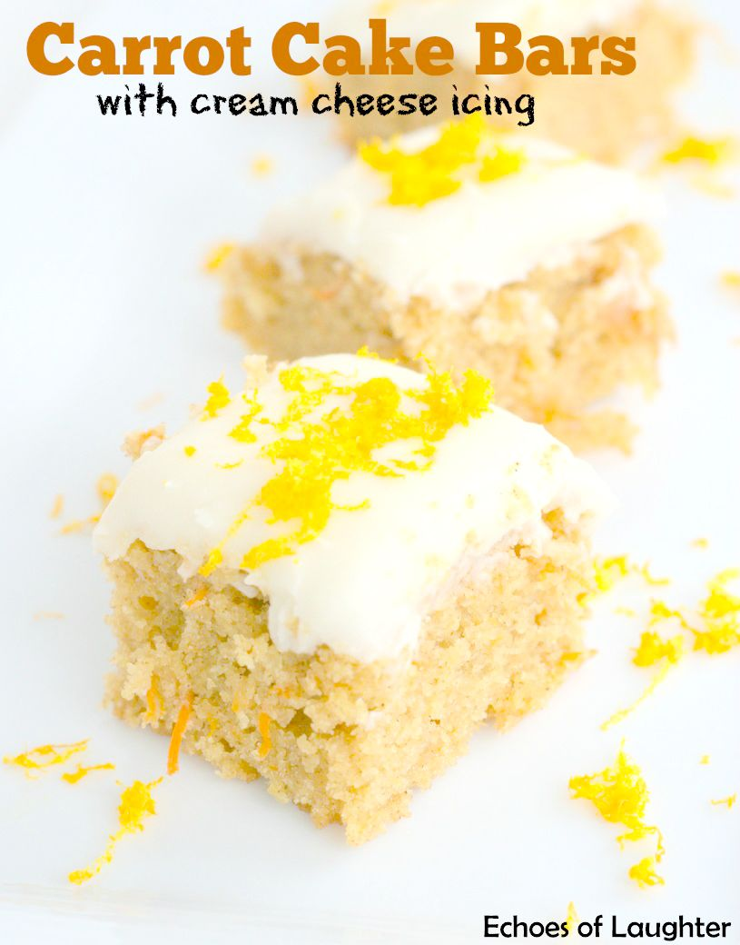 Wonderful Carrot Cake Bars