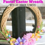 Pretty Easter Wreath With DIY Ribbon Flowers