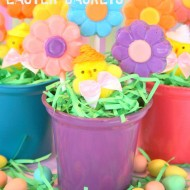 Flowers & Chicks Easter Baskets {Craft}