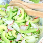 Spring Salad with Avocado Olive Oil Dressing