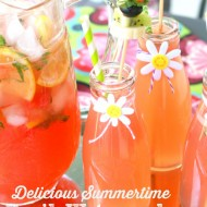 Delicious Basil Watermelon Lemonade