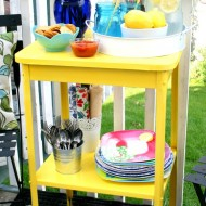 A Recycled Outdoor Side Table