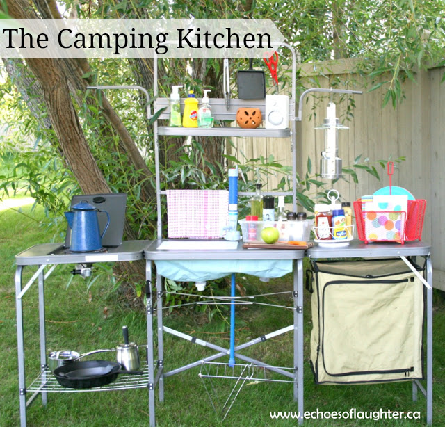 create an outdoor camping kitchen echoes of laughter