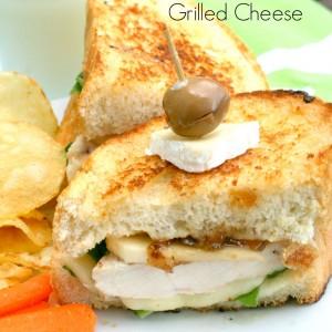 Chicken, Apple & Brie Grilled Cheese Sandwich