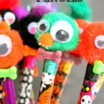 Monster Pencils For Halloween & Halloween Blog Hop