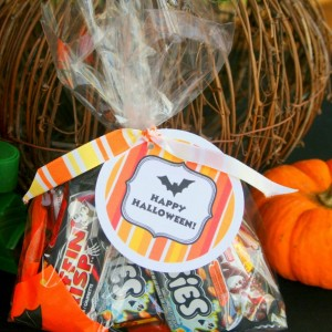 Happy Halloween Treat Bags +Free Printable Labels