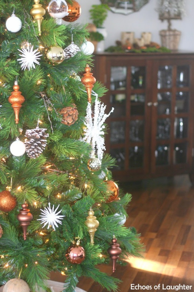 Rustic Mixed Metals Christmas Tree Echoes Of Laughter
