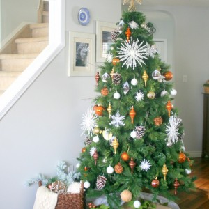 Rustic & Mixed Metals Christmas Tree