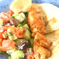 Easy Greek Chicken Kabobs & Greek Salad