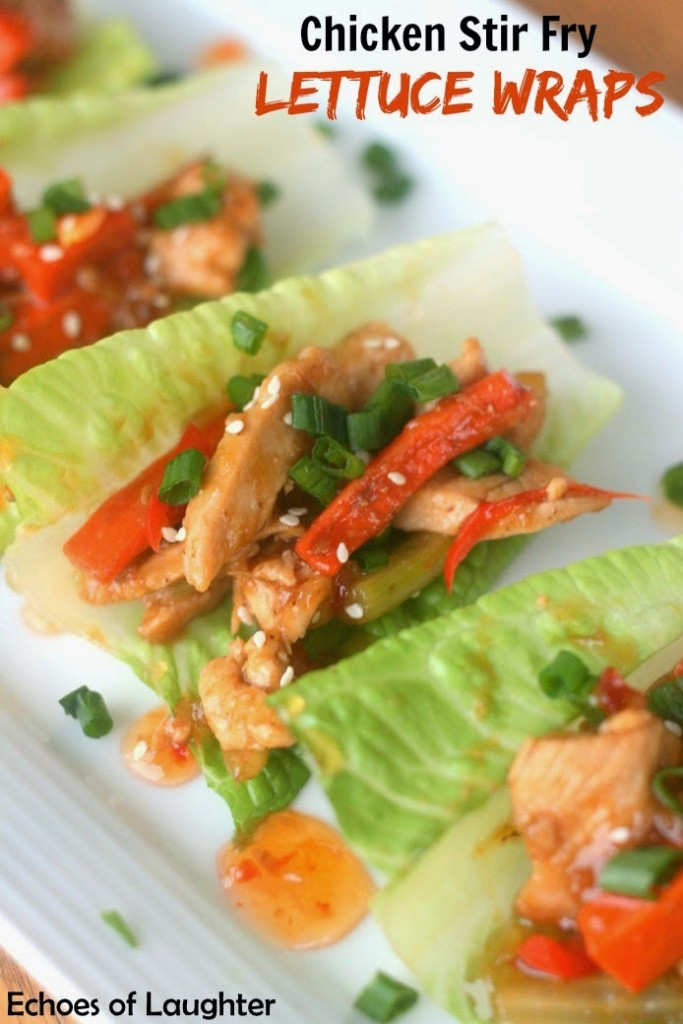 Chicken Stir Fry Lettuce Wraps - Echoes of Laughter