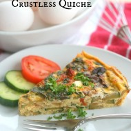 Meditterranean Crustless Quiche