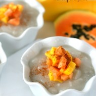 Coconut Milk Pudding with Tropical Fruit {Gluten Free, Dairy Free & Vegan}