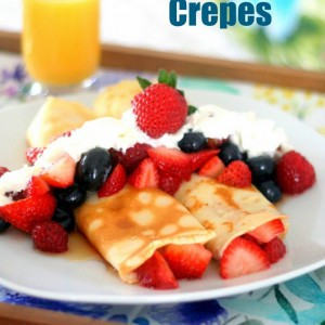Crepes with Yogurt & Berries