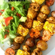 Curried Shrimp Boil Skewers