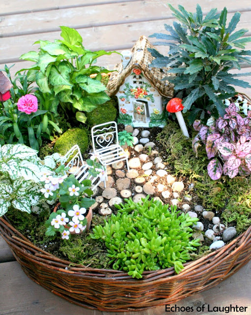 an asian inspired zen garden and she collected all of these things except the plants from second hand stores over the last year including the little - Little Garden