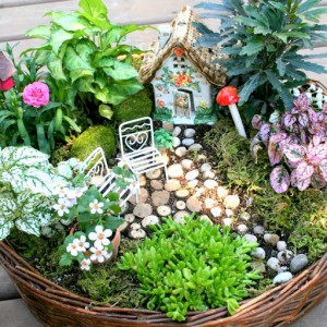 How To Make A Fairy Garden & 4 Other Fabulous Outdoor Plant & Flower Projects for the Outdoor Extravaganza 2015!