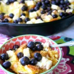 Skillet Blueberry & Cream Cheese Strata