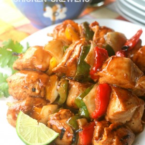 Hoisin Glazed Chicken Skewers