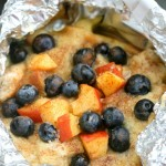 Blueberry & Peach French Toast In A Foil Packet #BBFEggs