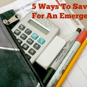 5 Ways To Save Money For An Emergency