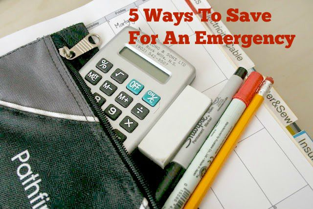 5 Ways To Save For An Emergency