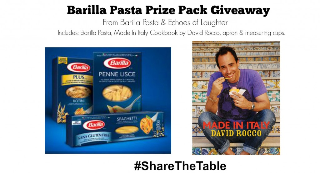 Barilla Pasta Prize Pack Giveaway