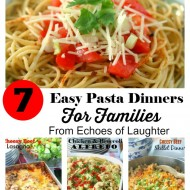 7 Easy Pasta Dinners For Families +Barilla Pasta Prize Pack Giveaway
