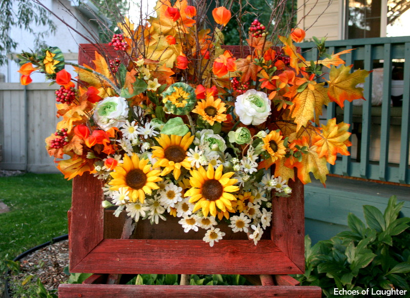 Rustic Box Wreath For Fall
