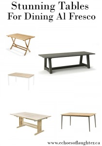 Stunning Tables for Dining Al Fresco